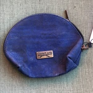 CorkLane Denim Blue Cork Cosmetic Bag